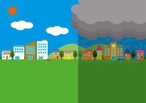 マンション購入時、浸水情報にも注意。